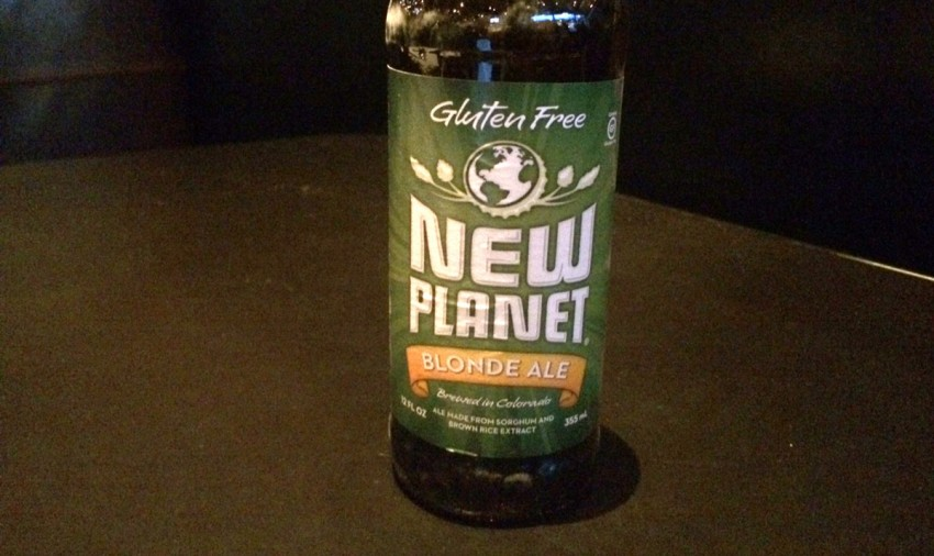 Bottle of New Planet Blonde Ale Gluten Free Beer