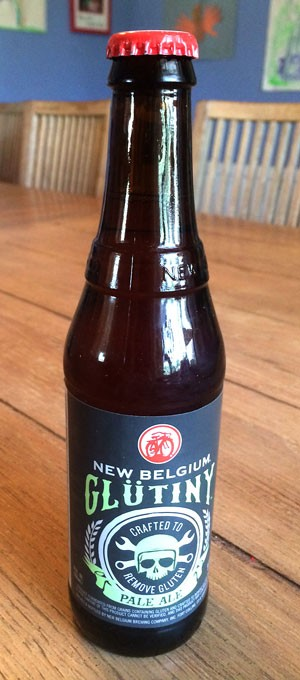 12 oz bottle of New Belgium Gluten RemovedPaleAle