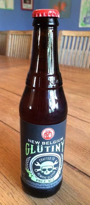 12 oz bottle of New Belgium Gluten RemovedPaleAle