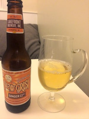 New Grist Gluten Free Ginger Beer Bottle and Glass