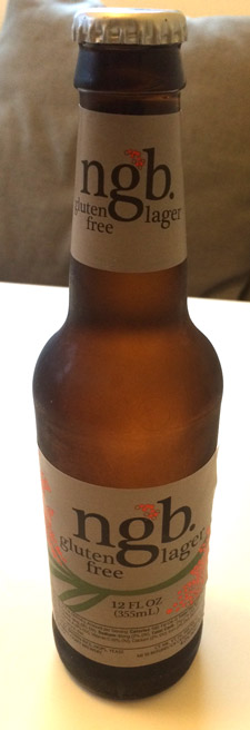 bottle of ngb gluten free beer