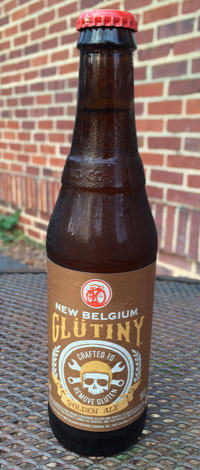 New Belgium bottle of Glutiny Ale