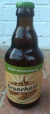 bottle of Brunehaut Belgian Blond gluten free ale