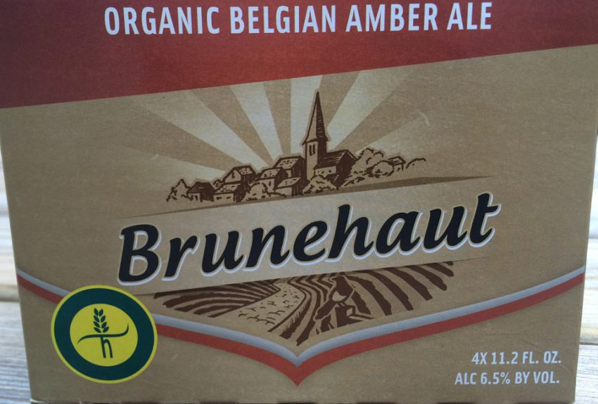 6 pack box of Brunehaut Amber beer