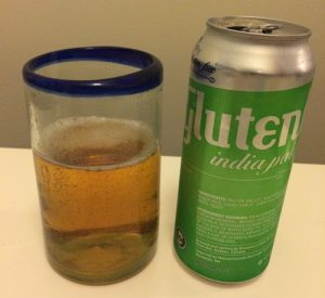 Glass and can of Glutenberg India Pale Ale