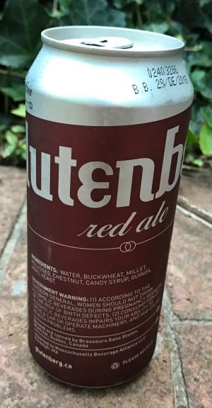 Can of Glutenberg Red Ale- Gluten free Beer