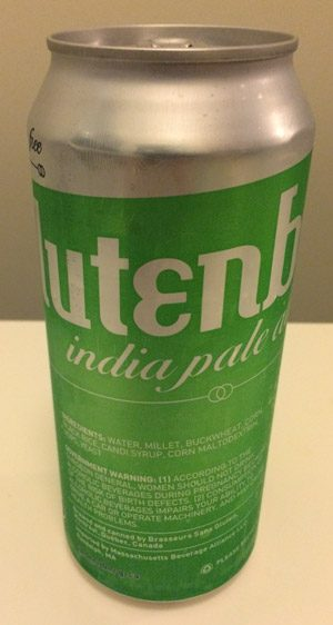 16oz can of Glutenberg India Pale Ale