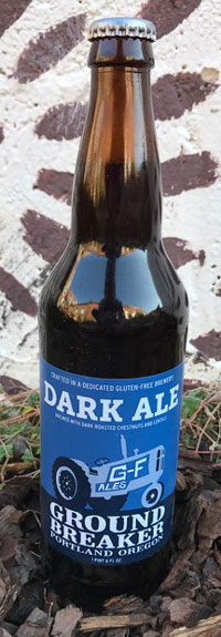 Single Bottle of Ground Breaker GlutenFree Dark Ale