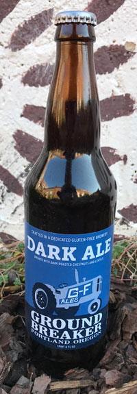 Single Bottle of Ground Breaker GlutenFree Dark Ale