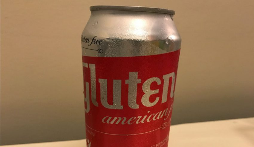 American Pale Ale close up of can from GlutenBerg