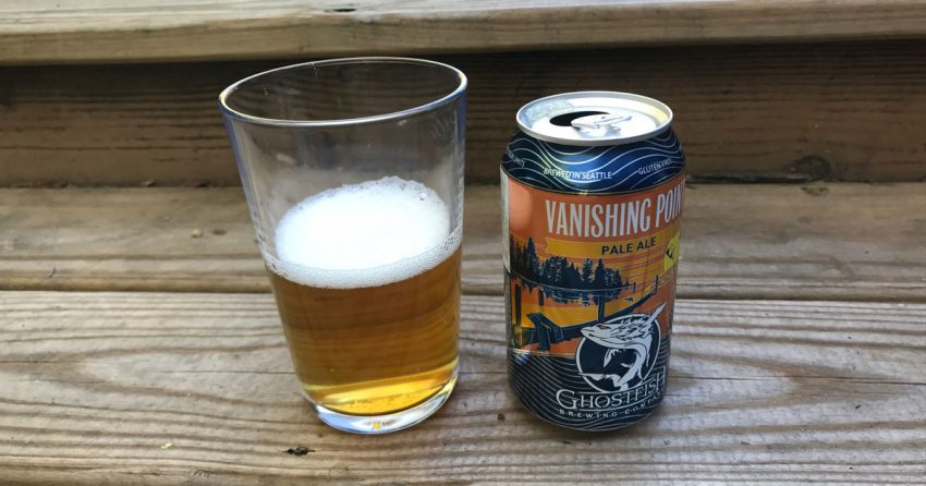 Glass of Ghostfish's Vanishing Point pale Ale